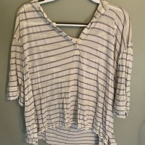 striped beach cover up hoodie